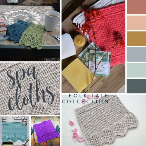 Folk Tales Spa Cloths - Collection of Five Patterns